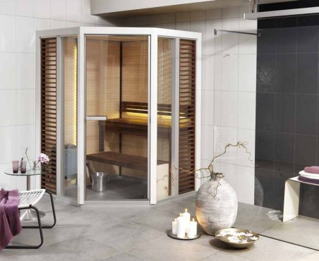 Prezentare produs Sauna traditionala cu inserti de sticla TYLO - Poza 1