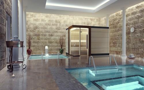 Prezentare produs Sauna de lux - mixta TYLO - Poza 1