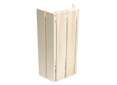 Solutii de iluminare pentru saune / Abajur lampa din lemn de plop pentru lampi de colt