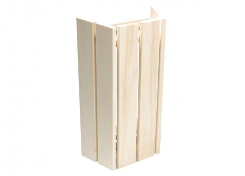 Prezentare produs Abajur lampa din lemn de plop pentru lampi de colt TYLO - Poza 3