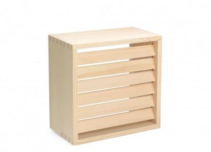 Solutii de iluminare pentru saune / Abajur rectangular din lemn de plop pentru lampi de perete