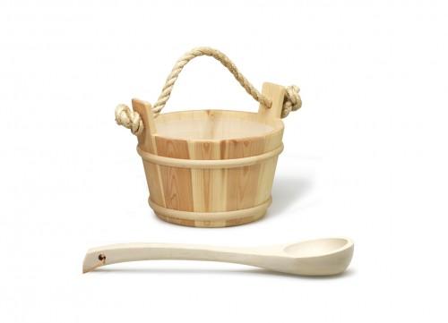 Prezentare produs Galetusa clasica din lemn, cu interior din plastic. Capactitate 4 litri - Polonic din lemn TYLO - Poza 6