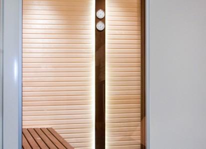 Accesorii pentru Spa / Higro-Termo Metru - Confectionat din lemn de frasin afumat si inox 3