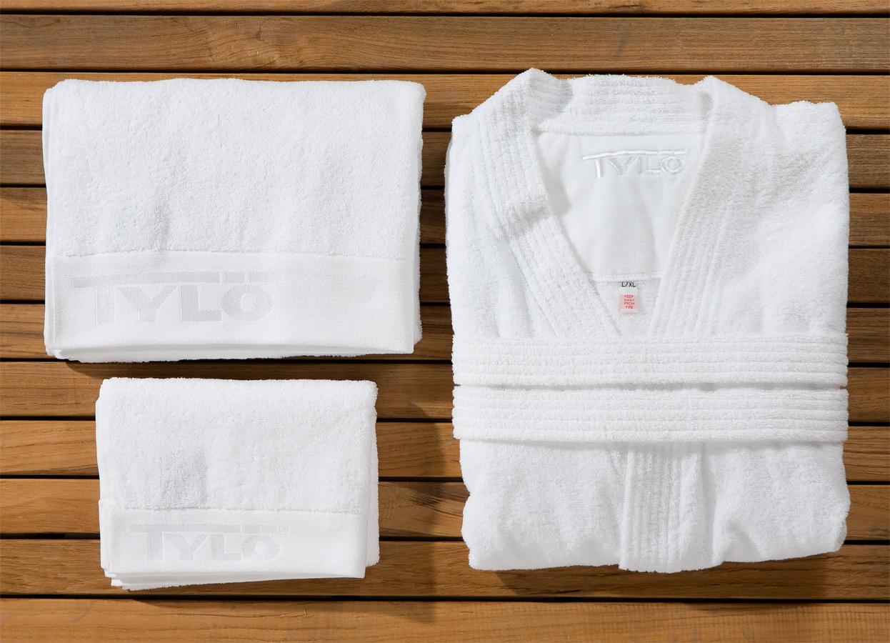 Kimono si proasoape pentru sauna din bumbac egiptean, puternic absorbante TYLO - Poza 14