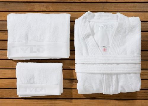 Prezentare produs Kimono si proasoape pentru sauna din bumbac egiptean, puternic absorbante TYLO - Poza 14