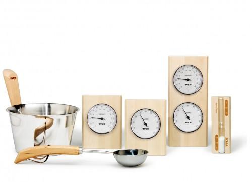 Prezentare produs Set accesorii din lemn de mesteacan si inox TYLO - Poza 1
