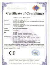 Certificat sursa alimentare led V-TAC