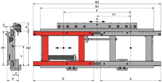 Desene tehnice pentru suport de furci, translatii laterale KAUP - Poza 5