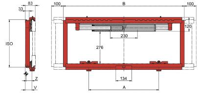 Desene tehnice pentru suport de furci, translatii laterale KAUP - Poza 1