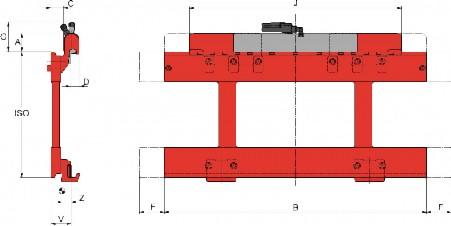 Prezentare produs Desene tehnice pentru suport de furci, translatii laterale KAUP - Poza 6
