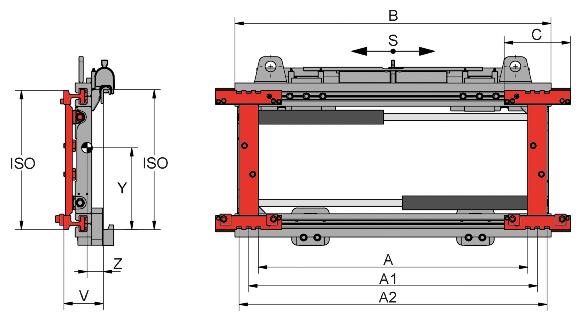 Desene tehnice pentru sisteme de pozitionare furci KAUP - Poza 1