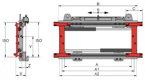 Prezentare produs Desene tehnice pentru sisteme de pozitionare furci KAUP - Poza 1