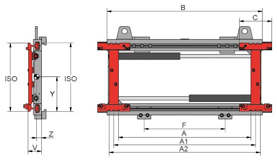 Desene tehnice pentru sisteme de pozitionare furci KAUP - Poza 2