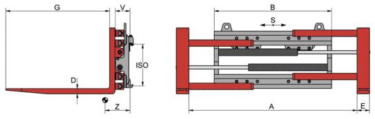 Desene tehnice pentru sisteme de pozitionare furci KAUP - Poza 4