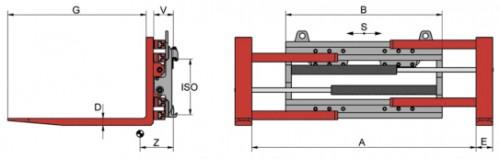 Prezentare produs Desene tehnice pentru sisteme de pozitionare furci KAUP - Poza 4