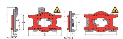 Prezentare produs Desen tehnic sistem de rotire 360 grade KAUP - Poza 1