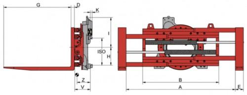 Prezentare produs Desene tehnice sisteme cu rotire (furci cu clamp, clampuri, cupe etc.) KAUP - Poza 1