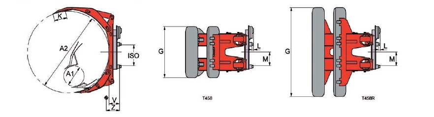 Desene tehnice sisteme cu rotire (furci cu clamp, clampuri, cupe etc.) KAUP - Poza 2