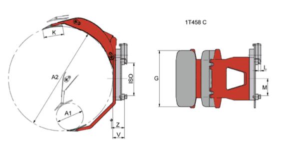 Desene tehnice sisteme cu rotire (furci cu clamp, clampuri, cupe etc.) KAUP - Poza 3