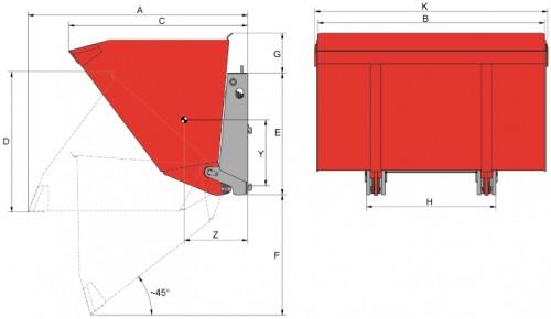 Prezentare produs Desene tehnice sisteme cu rotire (furci cu clamp, clampuri, cupe etc.) KAUP - Poza 4