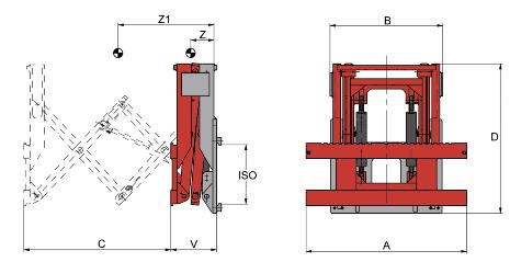 Desene tehnice extensii, impingatoare, furci telescopic KAUP - Poza 1
