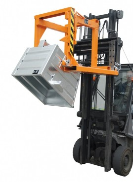 Prezentare produs Traversa pentru container basculant BAUER - Poza 4