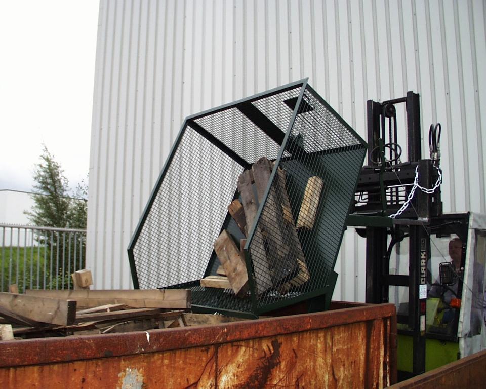 Container basculant cu zabrele TIP GU-G 1000 BAUER - Poza 2