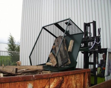 Prezentare produs Container basculant cu zabrele TIP GU-G 1000 BAUER - Poza 2