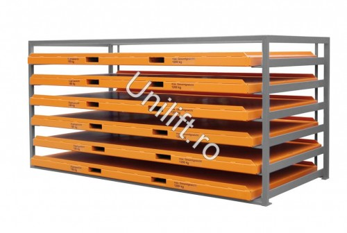 Prezentare produs Unitate de depozitare din placi de metal BAUER - Poza 1