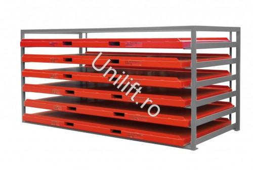 Prezentare produs Unitate de depozitare din placi de metal BAUER - Poza 2
