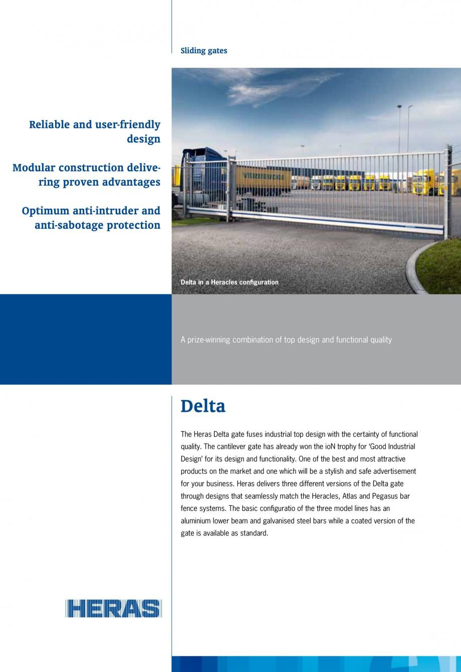 Pagina 1 - Porti de acces autoportante/glisante HERAS DELTA Fisa tehnica Engleza Sliding gates ...