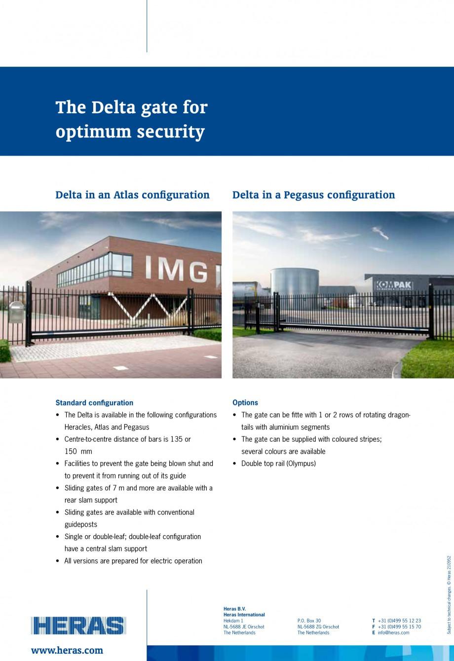 Pagina 4 - Porti de acces autoportante/glisante HERAS DELTA Fisa tehnica Engleza 0  3800  12930 ...