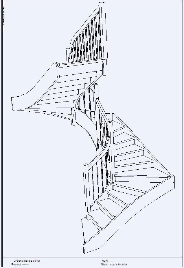 Scara pe structura din lemn - Bistrita TURSO HOLZ - Poza 1