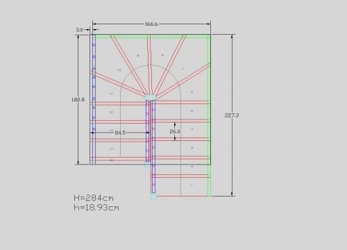 Lucrari, proiecte Scari pe structura din lemn realizate la comanda TURSO HOLZ - Poza 1