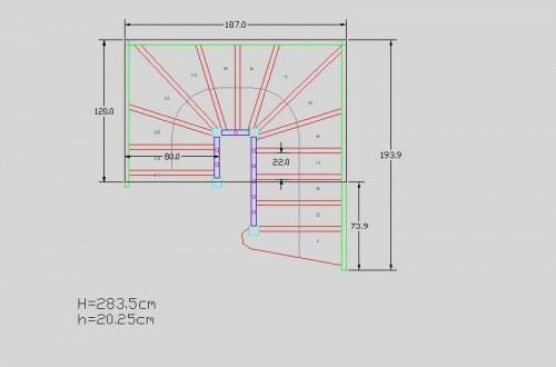 Lucrari, proiecte Scari pe structura din lemn realizate la comanda TURSO HOLZ - Poza 2