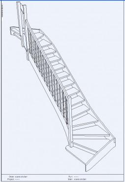 Lucrari, proiecte Scari pe structura din lemn realizate la comanda TURSO HOLZ - Poza 3