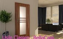 Usi de interior Usile din lemn pentru amenajari interioare Classen pot fi usi simple, cu geamuri si gauri de ventilatie. Disponibile intr-o variata gama de culori.