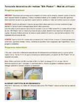 Mod de utilizare - tencuiala decorativa - tapet lichid SILK PLASTER