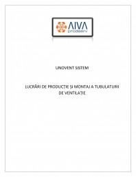UNOVENT SISTEM - Lucrari de productie si montaj a tubulaturii de ventilatie