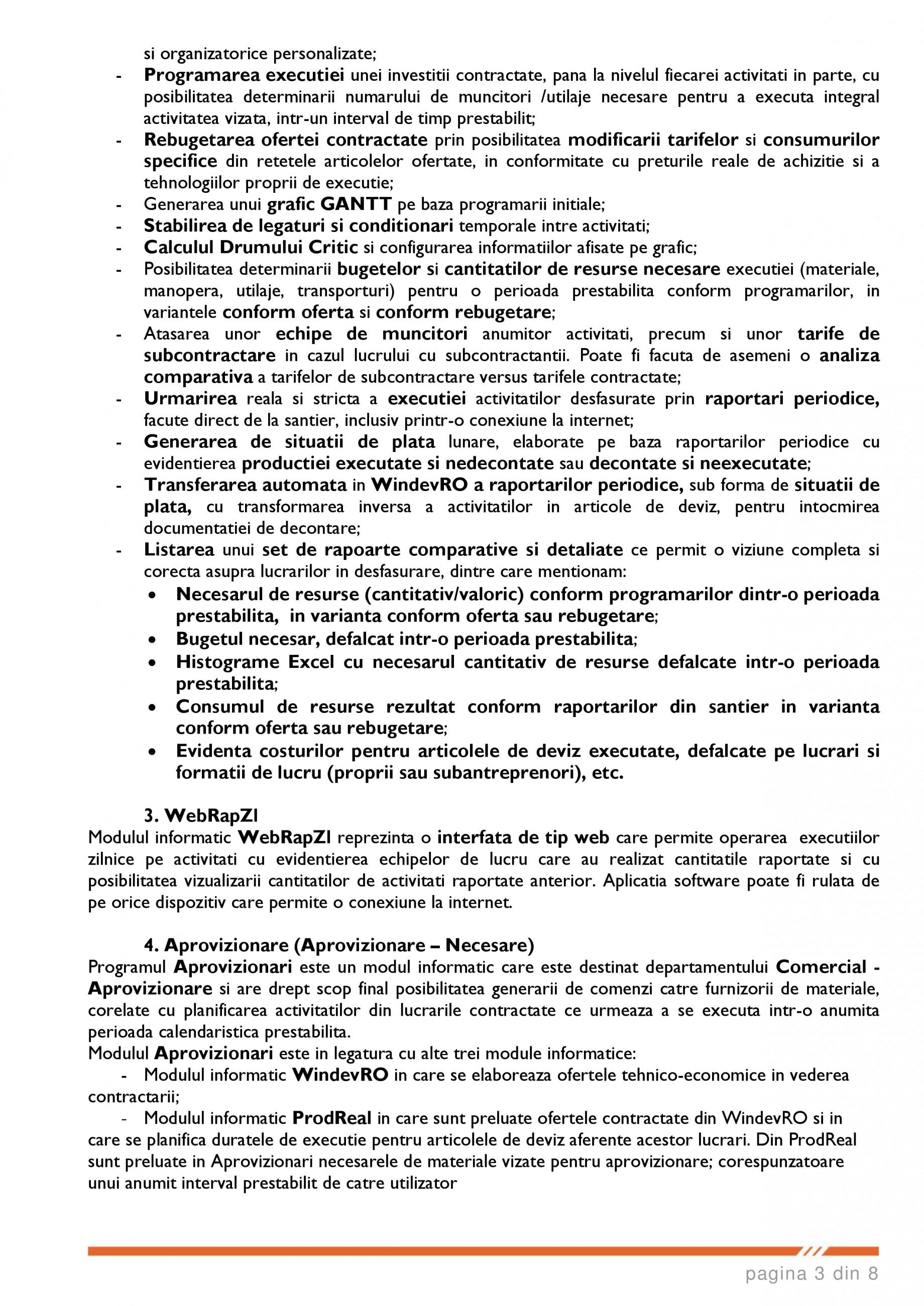 Catalog, brosura SCOP-C - Sistem pentru conducerea si organizarea productiei in constructii si instalatii SOFTEH PLUS Sistemul ERP - Planificarea Resurselor Intreprinderii SOFTEH PLUS  - Pagina 3