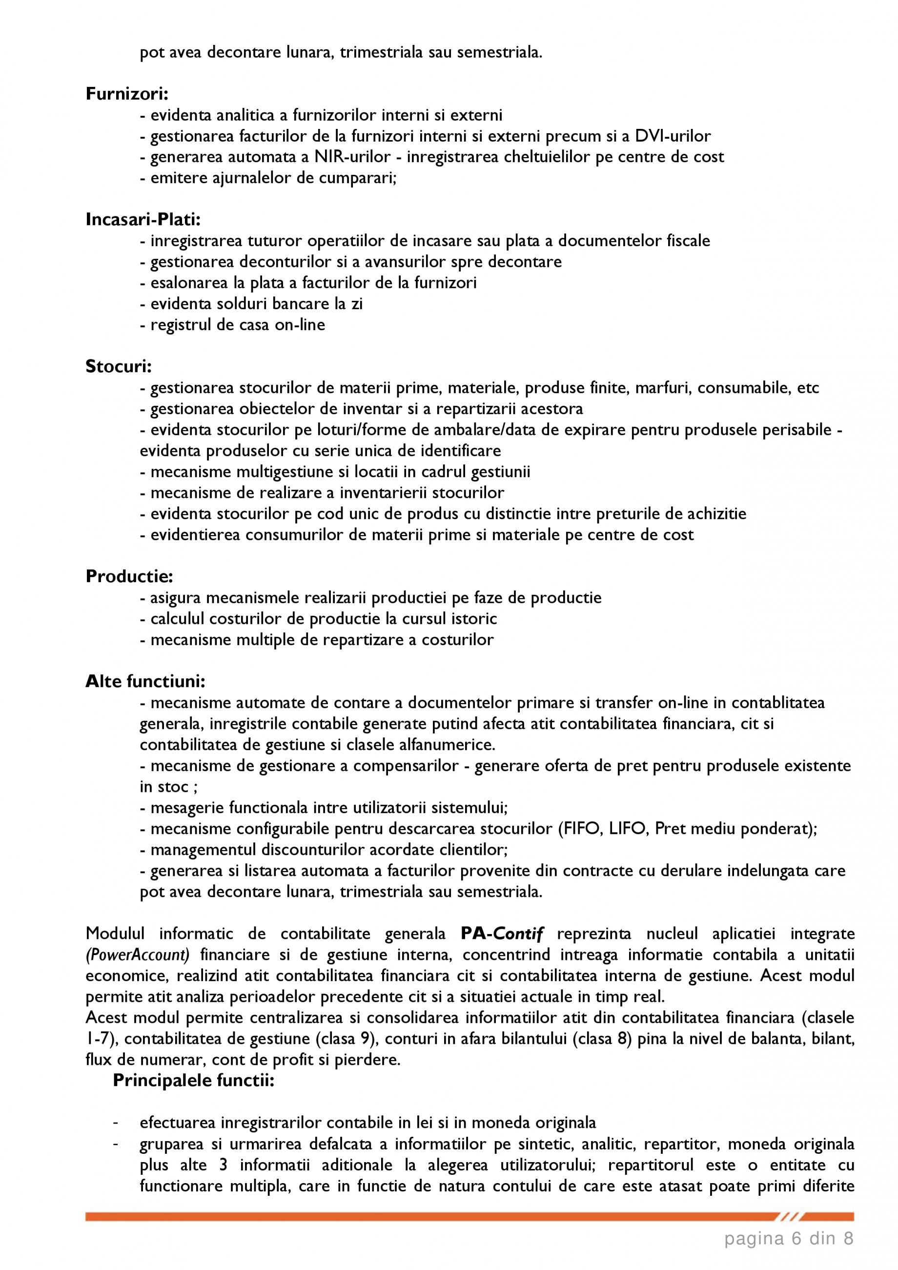 Catalog, brosura SCOP-C - Sistem pentru conducerea si organizarea productiei in constructii si instalatii SOFTEH PLUS Sistemul ERP - Planificarea Resurselor Intreprinderii SOFTEH PLUS  - Pagina 6