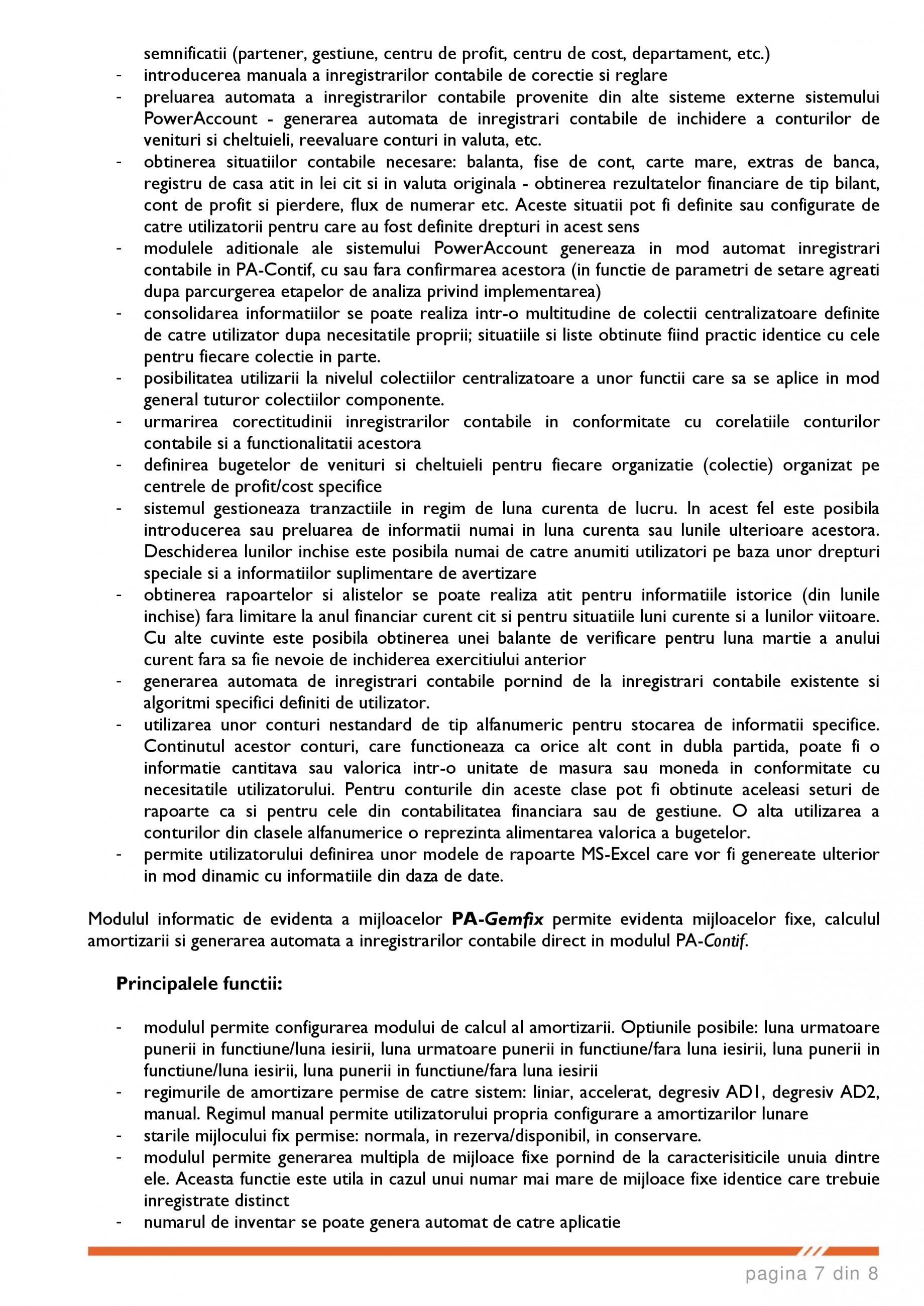 Catalog, brosura SCOP-C - Sistem pentru conducerea si organizarea productiei in constructii si instalatii SOFTEH PLUS Sistemul ERP - Planificarea Resurselor Intreprinderii SOFTEH PLUS  - Pagina 7