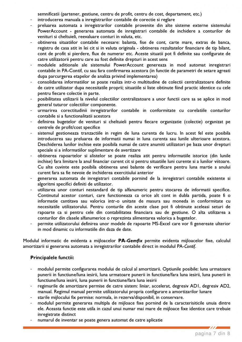 Catalog, brosura SCOP-C - Sistem pentru conducerea si organizarea productiei in constructii si instalatii SOFTEH PLUS Sistemul ERP - Planificarea Resurselor Intreprinderii SOFTEH PLUS a activitatilor realizate si decontarea lucrarilor prin situatii de plata generate pe baza... - Pagina 7