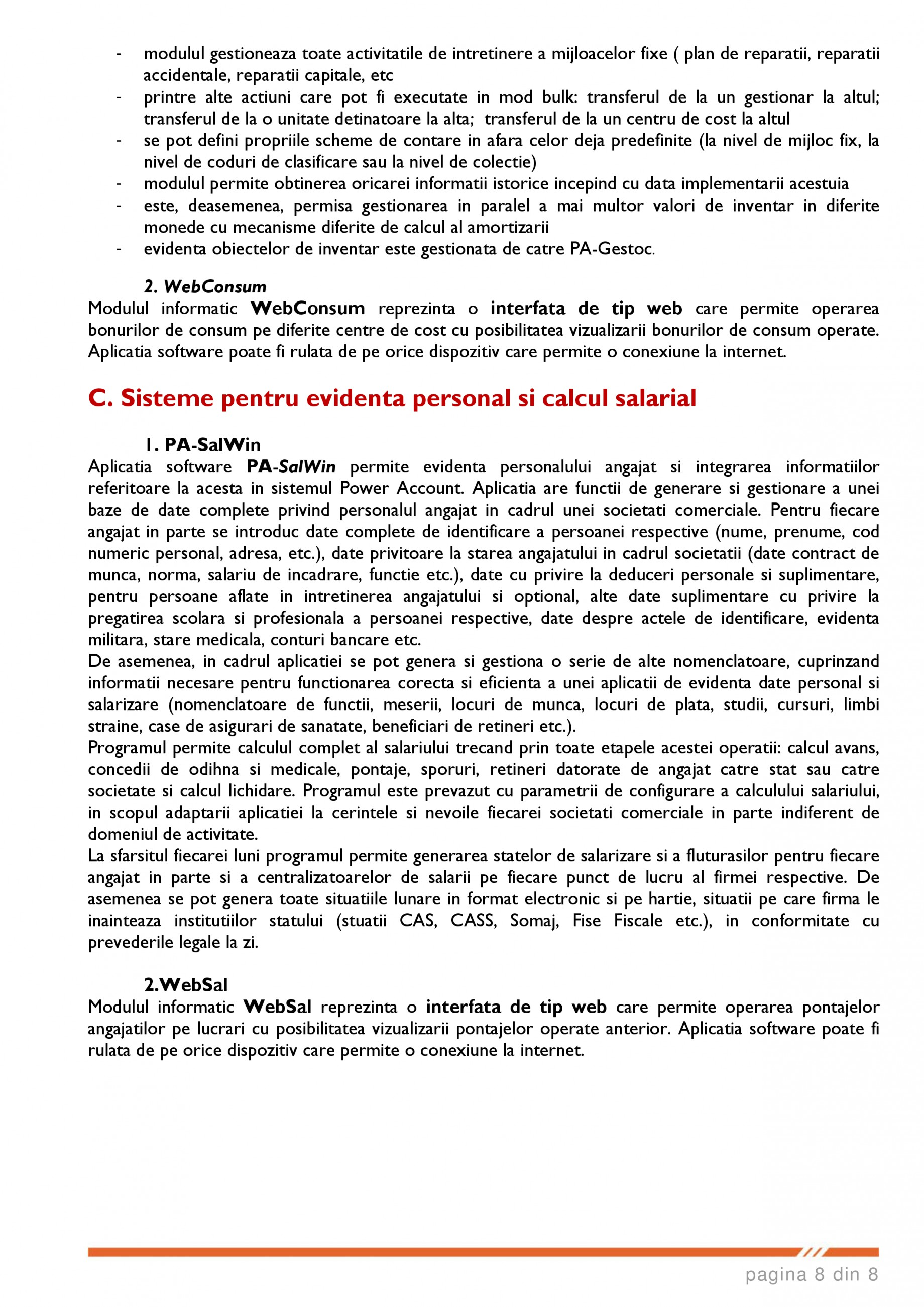 Catalog, brosura SCOP-C - Sistem pentru conducerea si organizarea productiei in constructii si instalatii SOFTEH PLUS Sistemul ERP - Planificarea Resurselor Intreprinderii SOFTEH PLUS  - Pagina 8