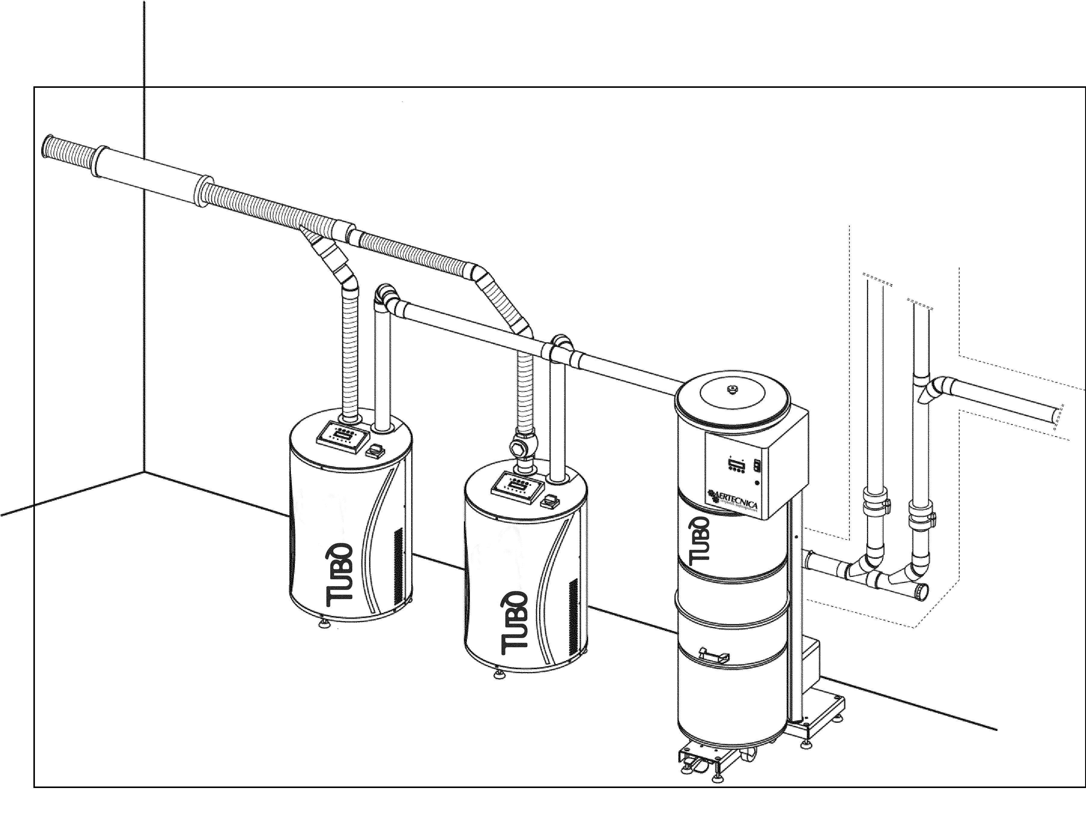 Sistem centralizat de aspiratie pentru uz industrial TUBO - Poza 7