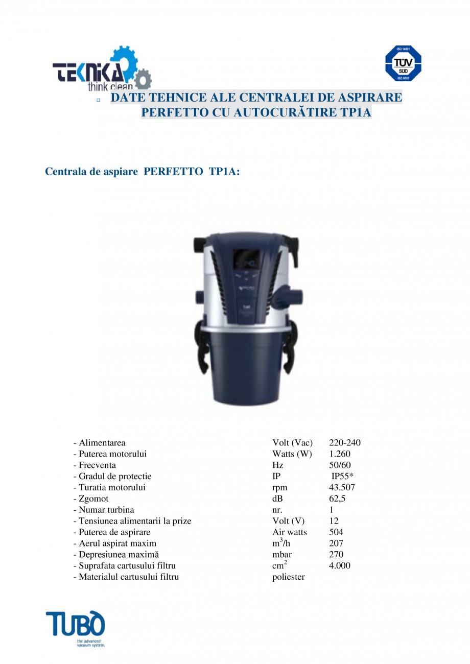 Pagina 4 - Aspirator central TUBO TP1A Fisa tehnica Romana  interventiile de întretinere si permite...