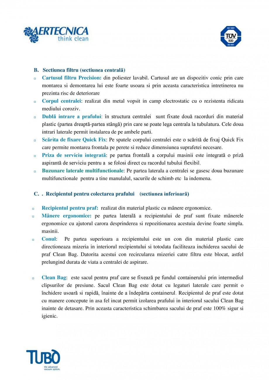 Pagina 3 - Aspirator central TUBO TP2 Fisa tehnica Romana  modificarea parametrilor de functionare...