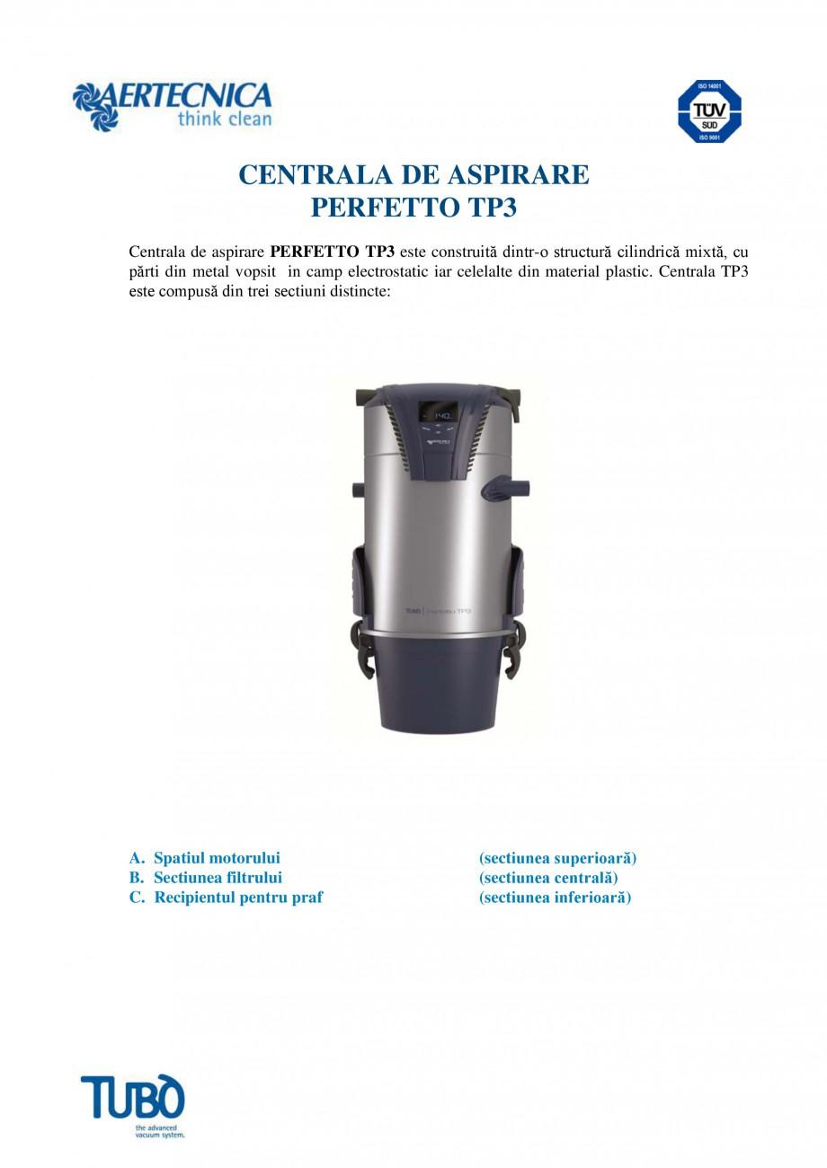 Pagina 1 - Aspirator central TUBO TP3 Fisa tehnica Romana CENTRALA DE ASPIRARE PERFETTO TP3 Centrala...