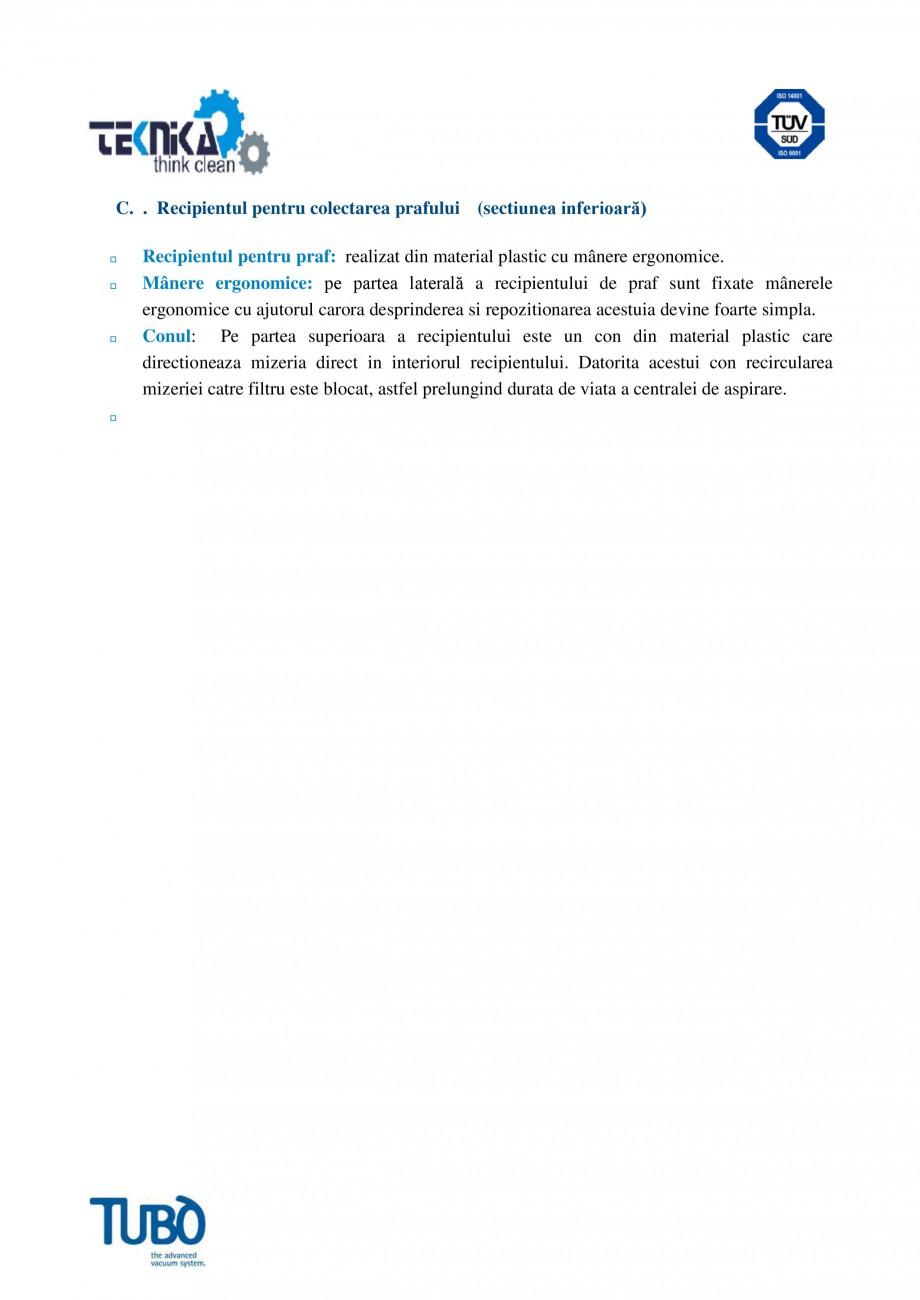 Pagina 3 - Aspirator central Classic TUBO TC3 Fisa tehnica Romana  un dispozitiv conic prin care...