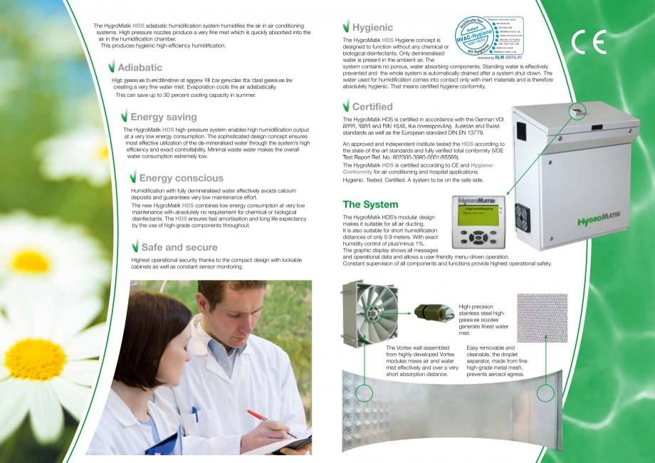 Pagina 2 - Umidificator cu atomizare HYGROMATIK HDS Fisa tehnica Engleza  high humidification...